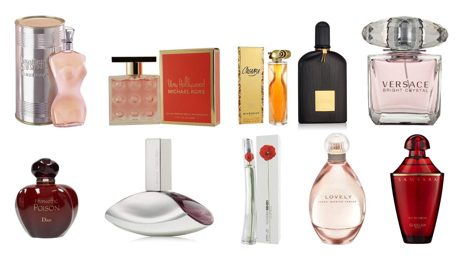 pestra izbira različnih prafumov