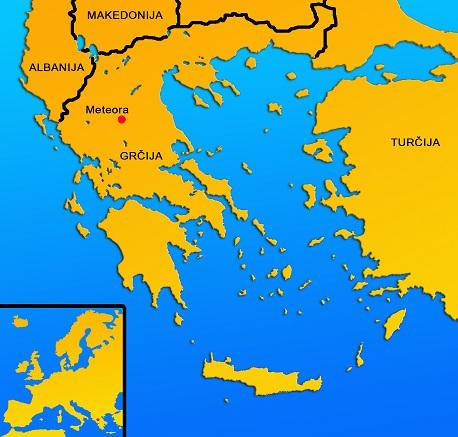 Zemljevid Grčije.